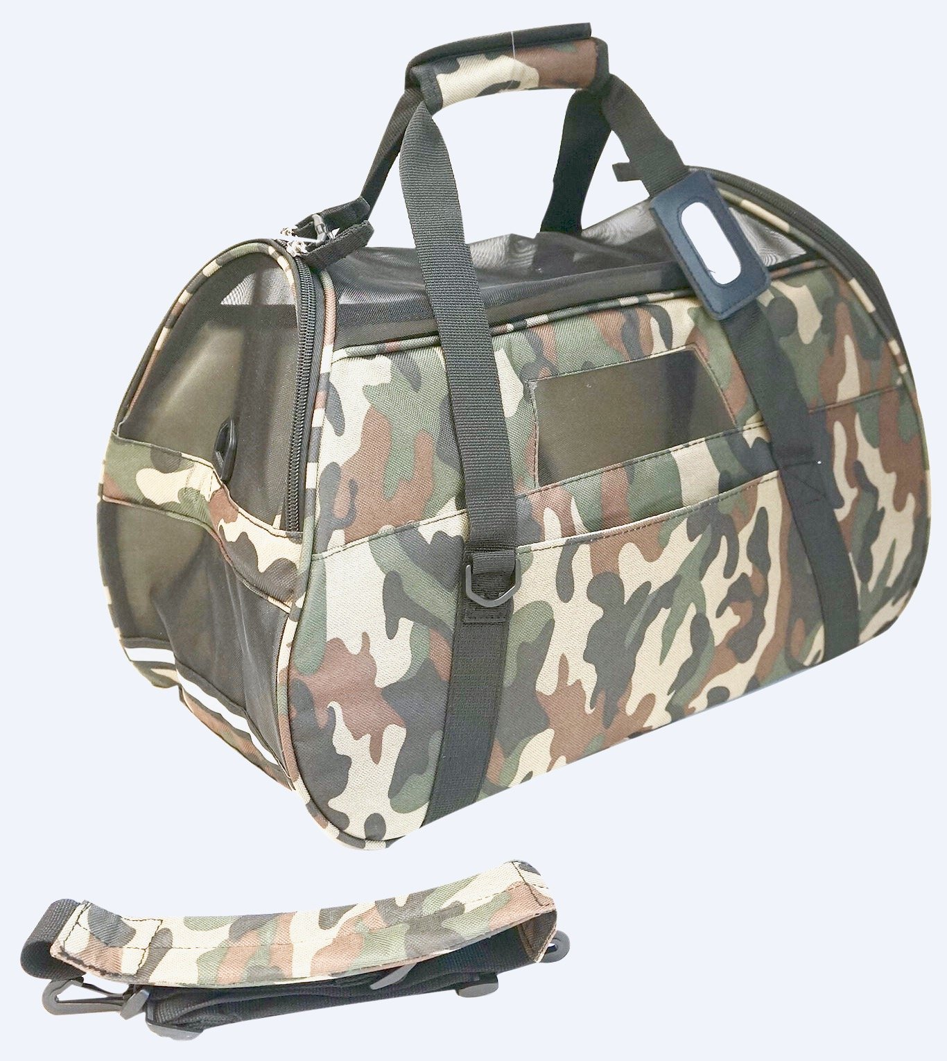 mmyTM Premium Soft-Sided Pet Carrier, Large Camo Classic For Pets up to 22 Lbs/9.98 Kg, Air Travel Compatible