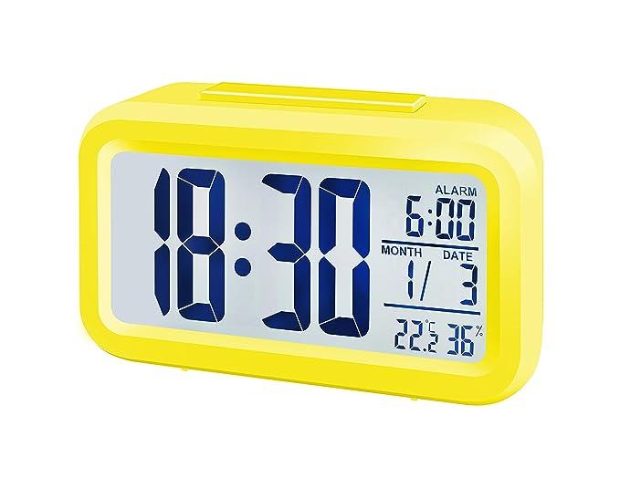 Bresser MyTime - Reloj Despertador con Pantalla LCD, Color Negro (Importado)