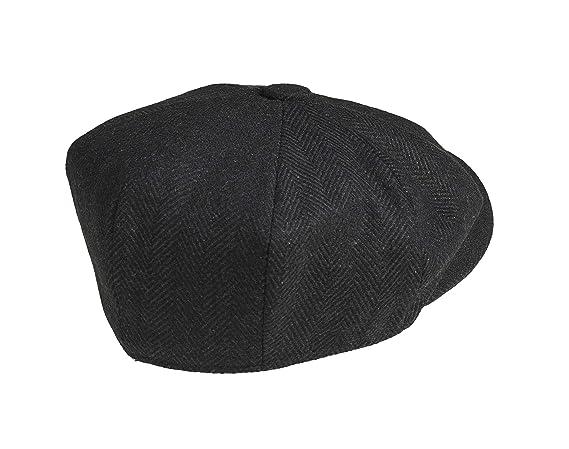 b176deb35 Peaky Blinders  Newsboy  Style Flat Cap -100% Wool  Amazon.co.uk  Clothing