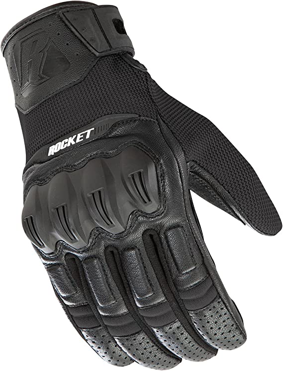 Joe Rocket Men's Phoenix 5.1 Hybrid Motorcycle Glove (Black/Black