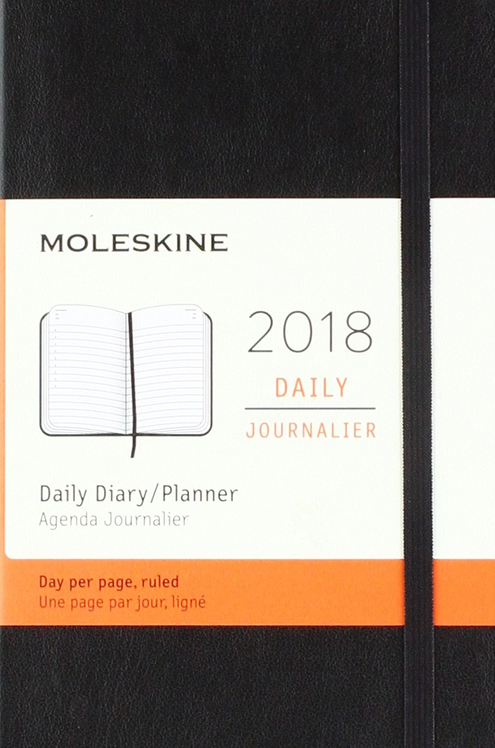 Moleskine 12 Month Daily Planner, Pocket, Black: Moleskine ...