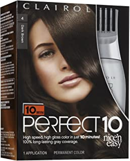 Amazon clairol perfect 10 by nice n easy hair color 03 clairol perfect 10 by nice n easy hair color 4 dark brown solutioingenieria Image collections