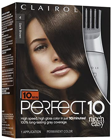 Amazon clairol perfect 10 by nice n easy hair color 4 dark clairol perfect 10 by nice n easy hair color 4 dark brown solutioingenieria Gallery