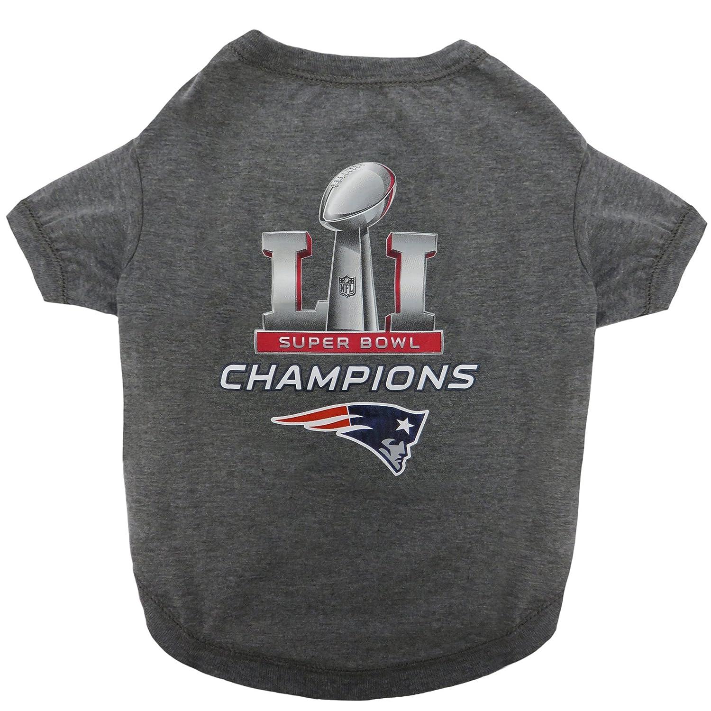 64e076655 Amazon.com   Pets First NEP-4070-XL NFL New England Patriots 2017 Super  Bowl LI Championship Pet Tee Shirt