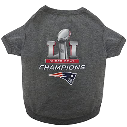 7ca21ad9 Pets First NEP-4070-LG NFL New England Patriots 2017 Super Bowl LI  Championship Pet Tee Shirt, Large