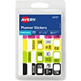 """Avery Removable Planner Stickers, Assorted Designs, 1/2"""" x 3/4"""", Pack of 250 (6775)"""
