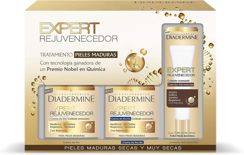 Diadermine Expert Rejuvenecedor crema de día, crema de noche y corrector anti-manchas - 1 Pack