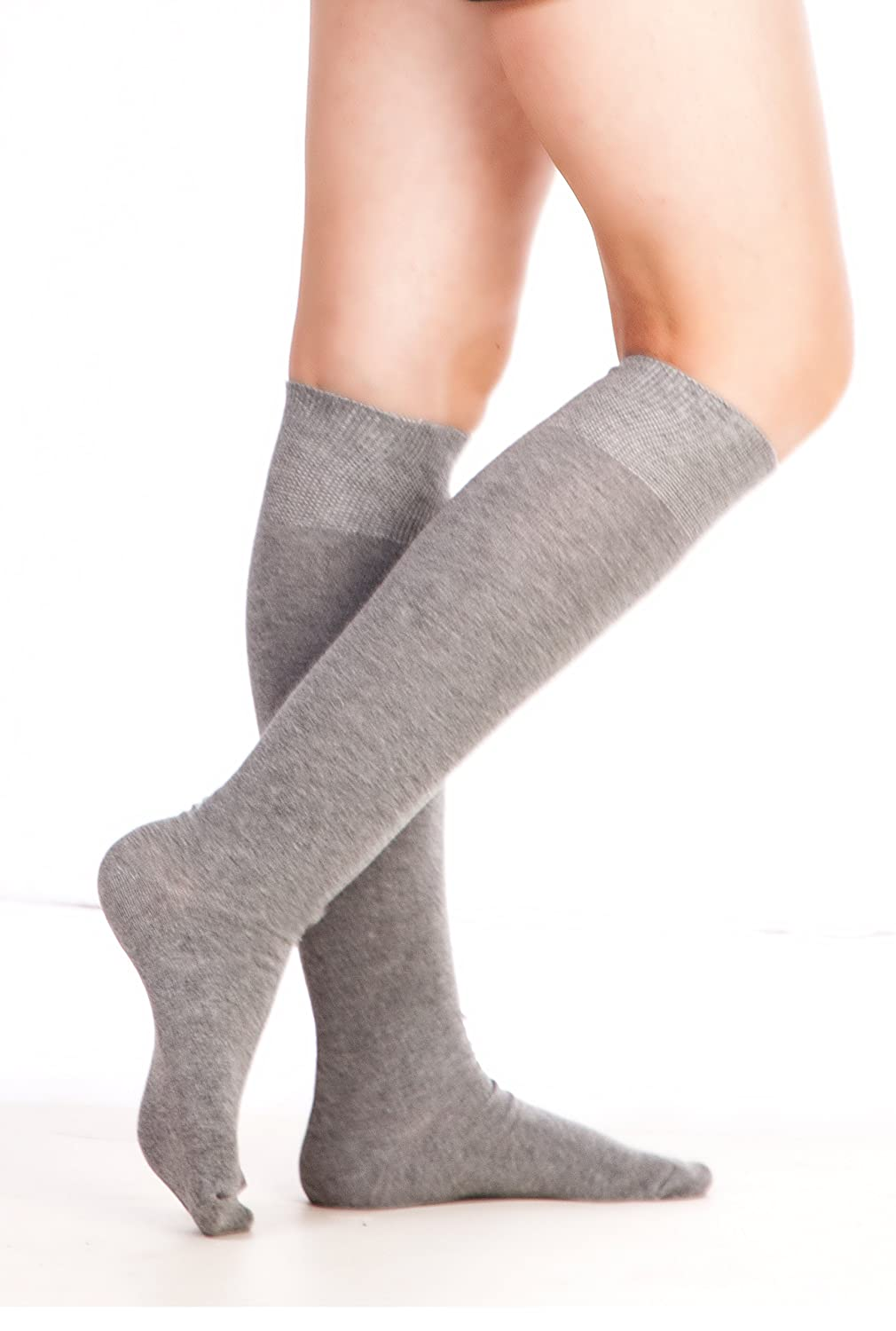 Chapini®, Ladies & Girls Soft Cotton Rich Plain Knee High Socks UK size 4-8 701 PL 01