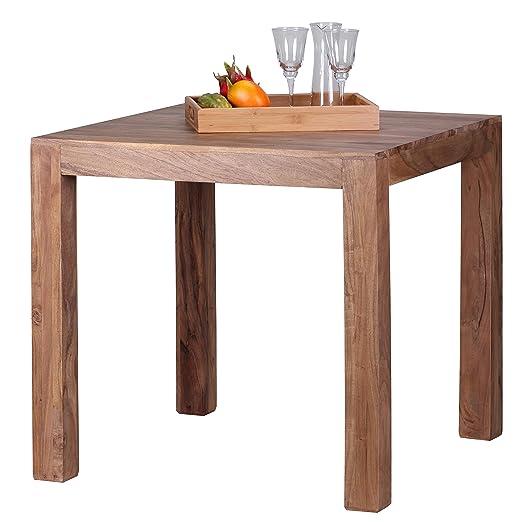 finebuy esstisch massivholz akazie 80 x 80 x 76 cm esszimmer tisch design kuchentisch modern