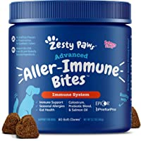 Zesty Paws Allergy Immune Supplement for Dogs - with Omega 3 Wild Alaskan Salmon Fish Oil & EpiCor + Digestive…