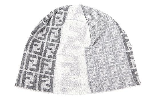 huge discount 5b235 2f379 Fendi cuffia berretto uomo in lana originale grigio: Amazon ...