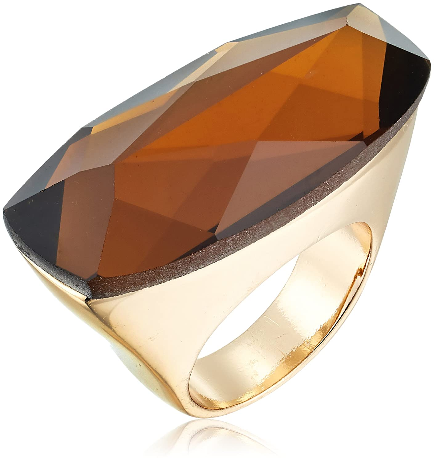 Robert Lee Morris Womens Topaz and Gold Stone Ring