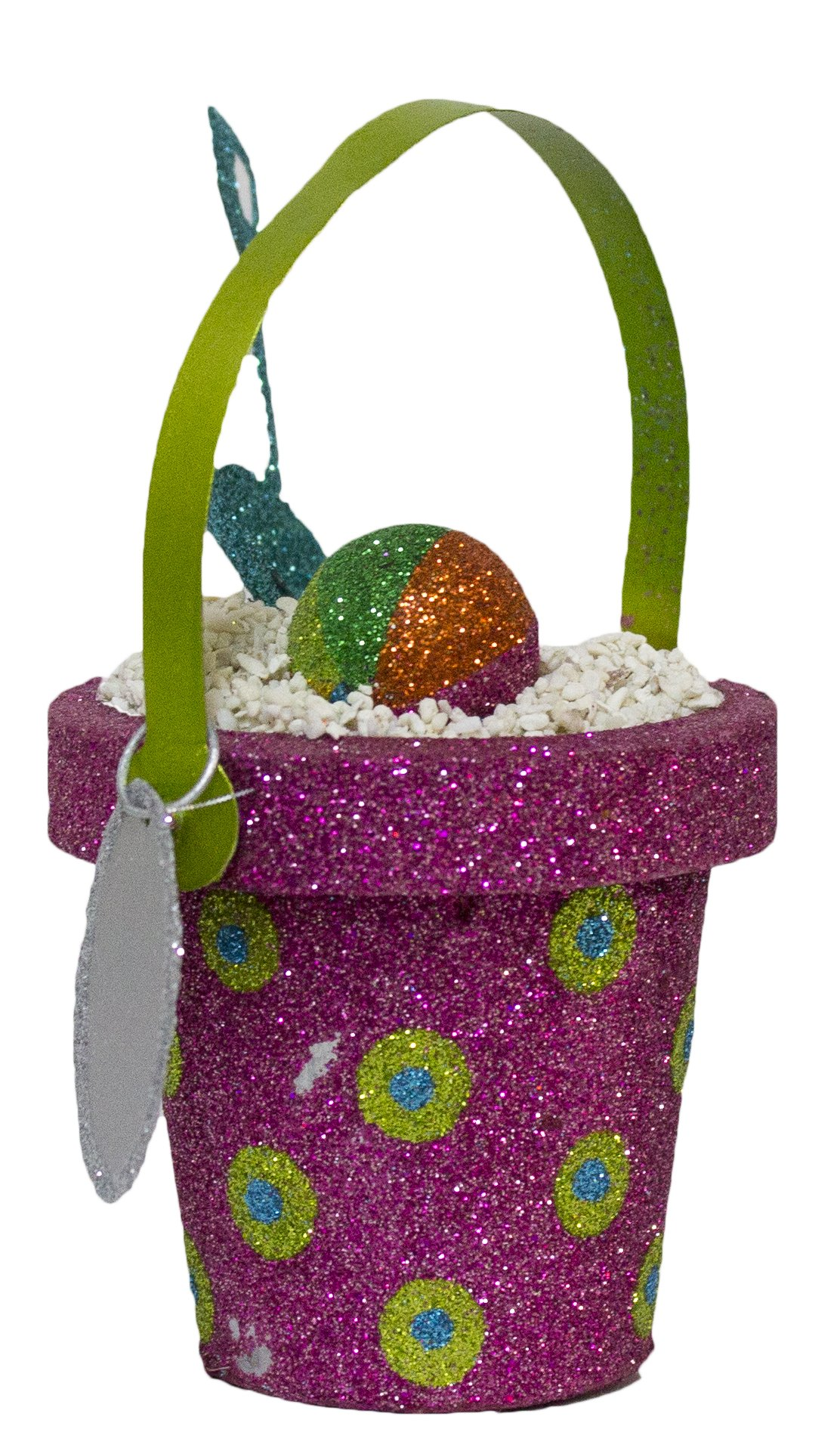 Sand Pail and Shovel Glitter Christmas/ Everyday Ornament