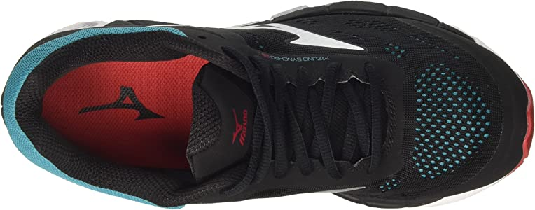 Mizuno Synchro MX, Zapatillas de Gimnasia para Hombre, Negro (Black/Chinese Red/Tile Blue 61), 40 EU: Amazon.es: Zapatos y complementos