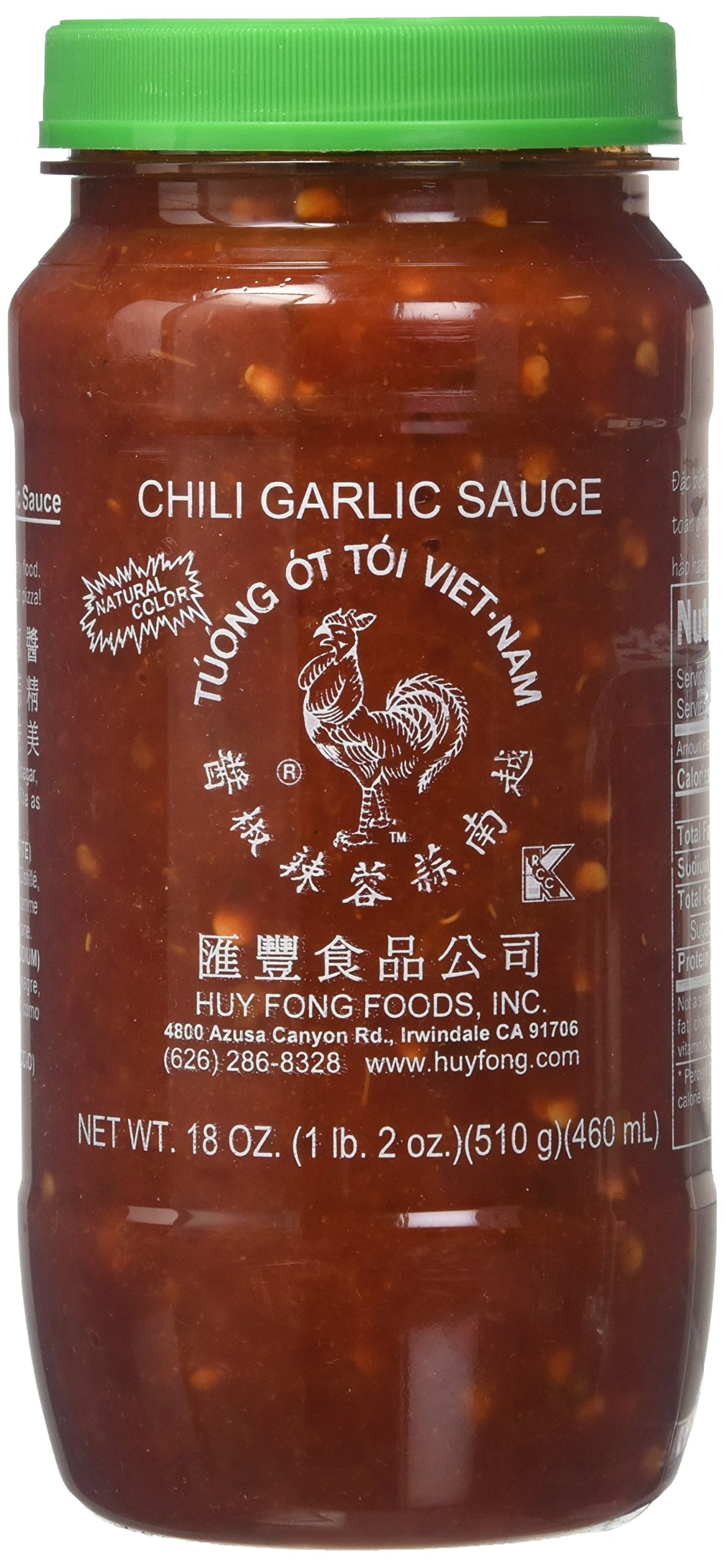 Huy Fong Sauce Chili Garlic,18 oz