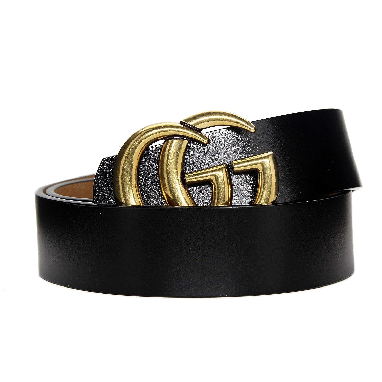 c37825b79d54 Belt Material Genuine Leather Features  Fashion retro vintage bronze Letter  Buckle design. Size Belts Width 3.8cm  Belt Length:105cm 41.33inch (Waist  ...