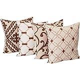 Colchas Concord Windsor Juego de 4 Cojines Decorativos, color Beige