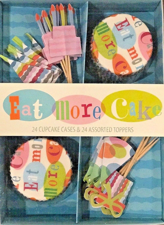 NEW Meri Meri Birthday Cake Cupcake Kit 24 Cupcake Cases /& 24 Assorted Toppers