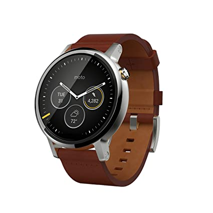 Amazon.com: Motorola Moto 360 (2nd Gen) para hombre 4 GB ...