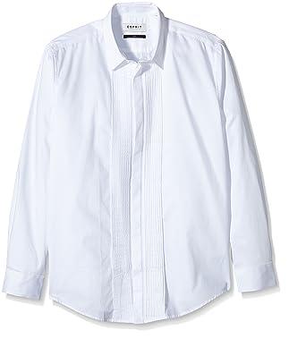 9634f8f2b9de ESPRIT Collection Herren Slim Fit Smoking Hemd Aus Reiner Baumwolle, Gr.  Kragenweite  37