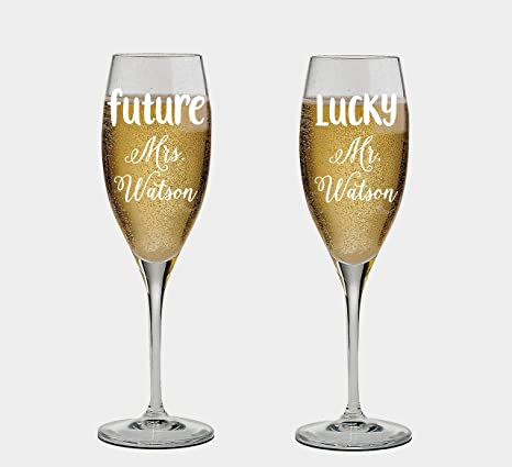 16 oz personalized stemless wine glass cocktail glass wedding favors Future Mrs