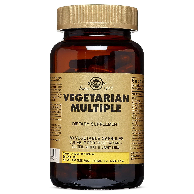 Solgar Vegetarian Multiple Vegetable Capsules, 180 Count