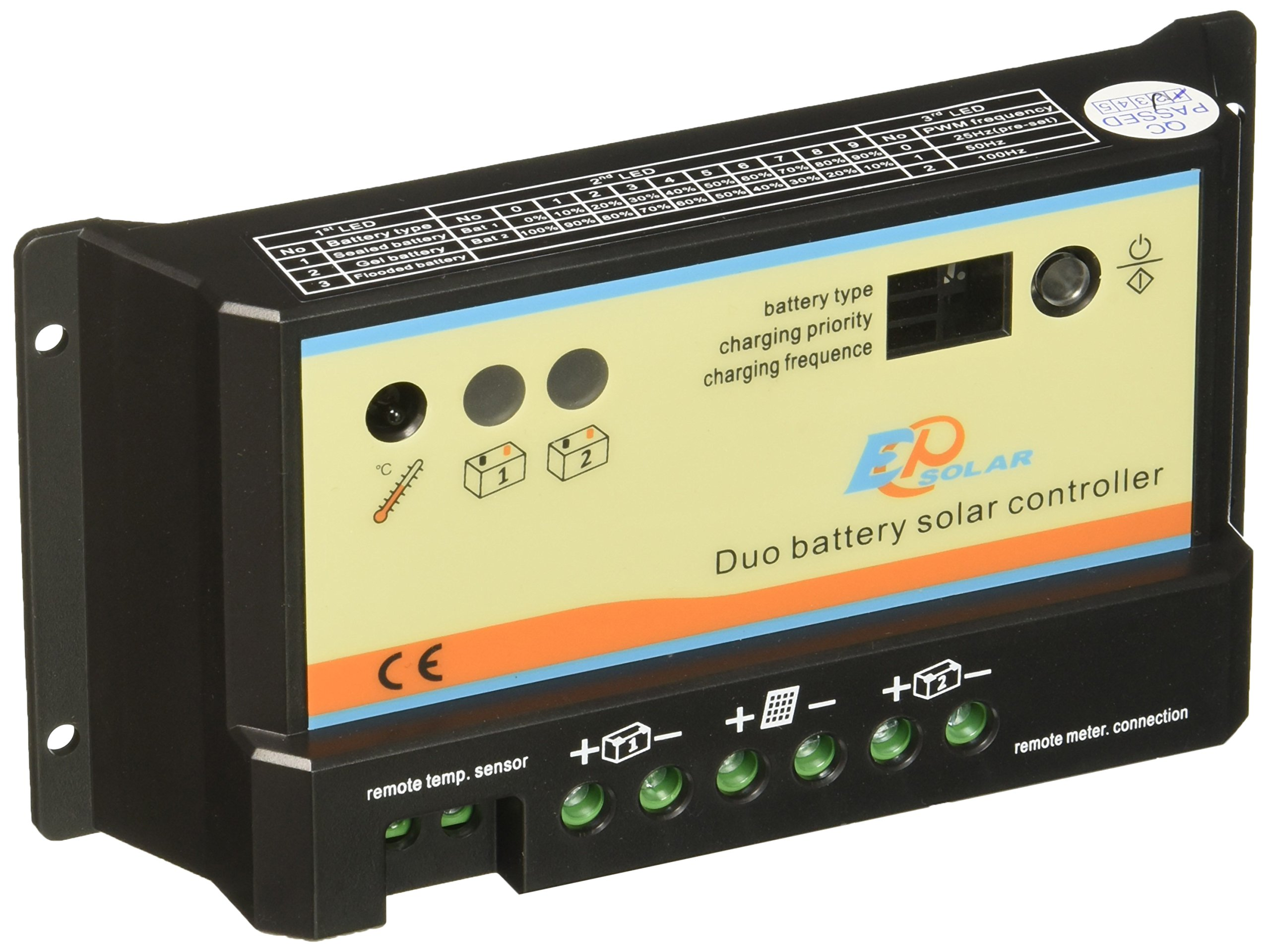 Renogy 10 Amp PWM Dual Battery Charge Controller