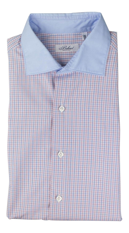 BELVEST Multi-Color Plaid Cotton Casual Shirt Size 40 EU 15.75 US