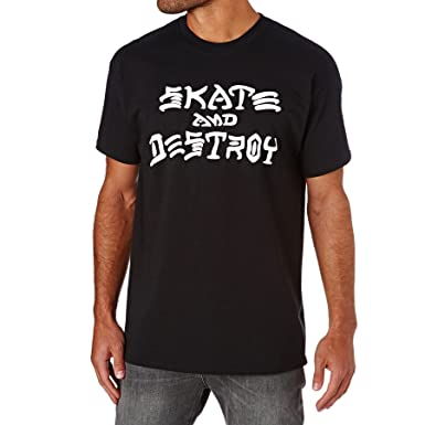 514574cd5b7e Amazon.com: Thrasher Skate Destroy Short Sleeve T-Shirt: Clothing