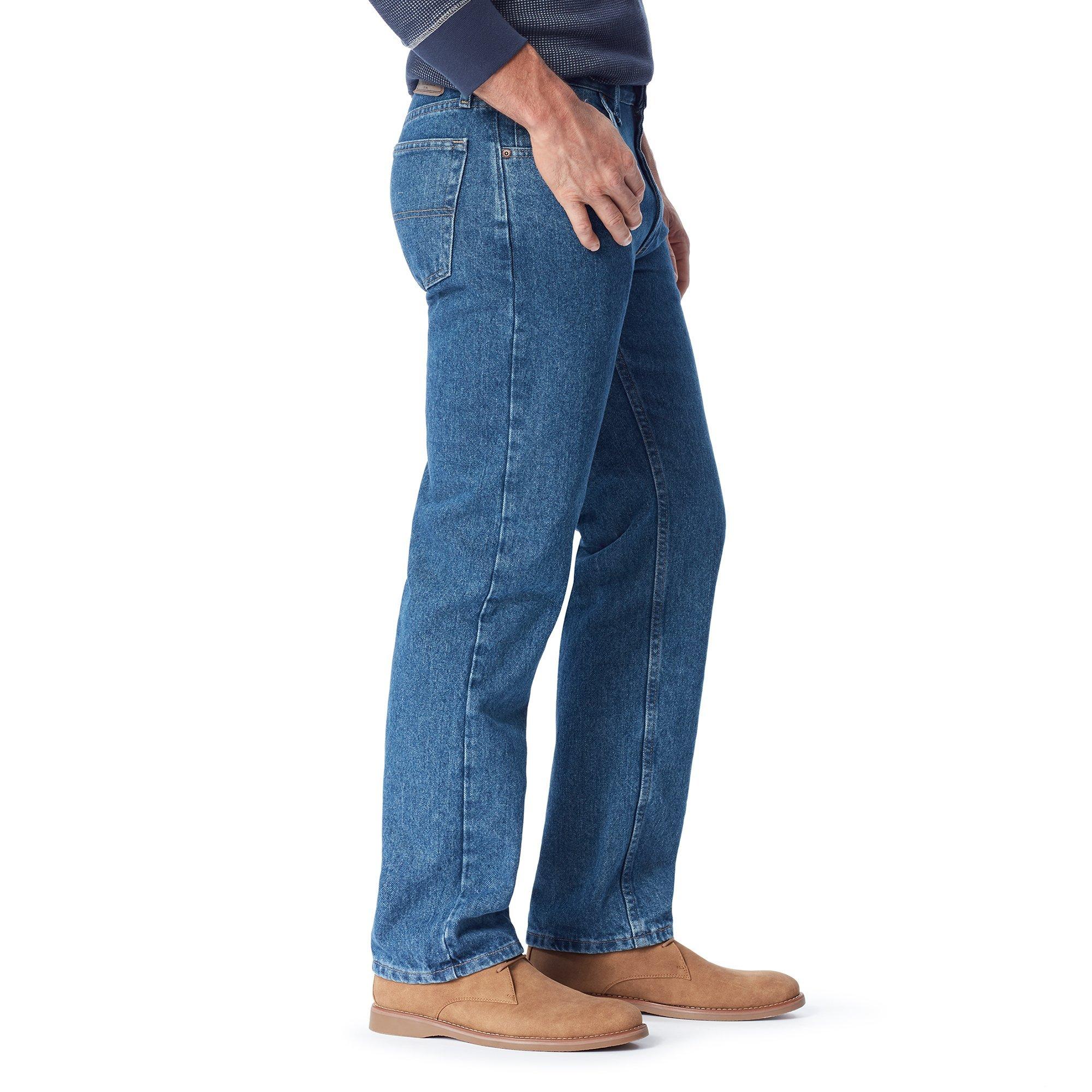 Wrangler Authentics Men's Classic 5-Pocket Regular Fit Jean,Stonewash Dark,42x28 by Wrangler (Image #6)