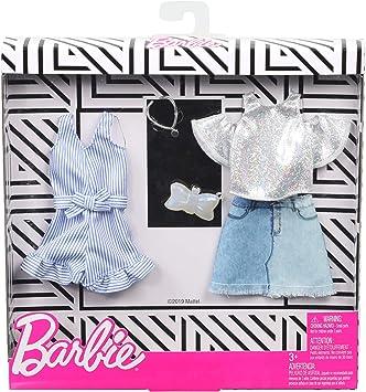 Amazon.es: Barbie Pack de Accesorios de Moda Falda Tejana con Top de Brillo (Mattel GHX56), color/modelo surtido ...