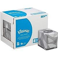 Kleenex 8834 cosmeticatoeken in de kubusbox, 2-laags, 12 dobbelstenen x 88 doeken, wit