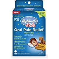 125 Count Hyland's Homeopathic Kids Nighttime Oral Pain Relief Tablets