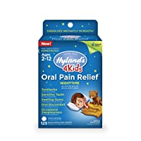 Kids Nighttime Oral Pain Relief Tablets by Hyland's 4Kids, Natural Relief of Toothache...