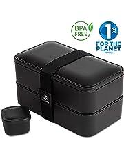 Umami Lunch Box   Boîte Bento Japonaise Premium avec 3 Couverts Solides Et 1 Pot À Sauce   1200ml   Hermétique   Passe Au Micro-Ondes Et Au Lave-Vaisselle   sans BPA   Marque Déposée