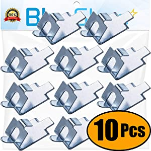 Ultra Durable 920158 Freezer Shelf Clip Freezer Cooler Shelf Support Shelf Square Clips Stainless Steel Shelf Clip Replacement Part by Blue Stars - Exact Fit For Refrigerators - PACK OF 10