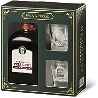 Vermouth Perucchi - Kit vermut Gran Reserva Dorado + 2 vasos – Elaborado en España – 15% Alcohol – Selección Vins&Co