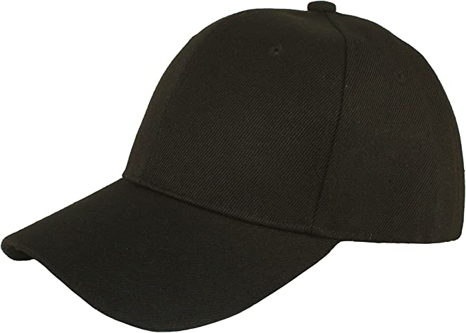 Amazon.com  Jh Sports Plain Adjustable Velcro Baseball Cap (Black)  Clothing 28c7c9b3682
