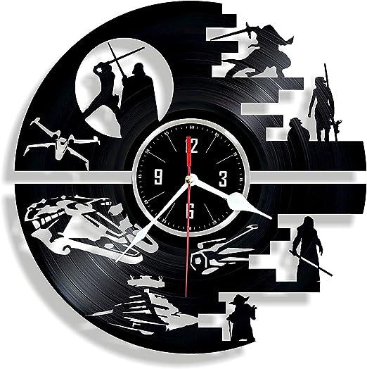 Amazon.com: Estrella de la muerte – Reloj de pared de vinilo ...