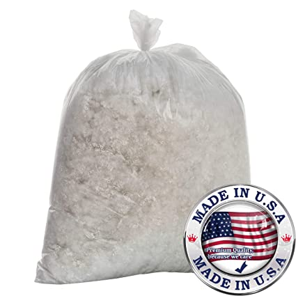 20 LB. Bag Pillow Fill VirtueValue 20 LBS of Raw Polyester Cluster Fiber Filling Arts and Crafts  Teddy Bear Stuffing