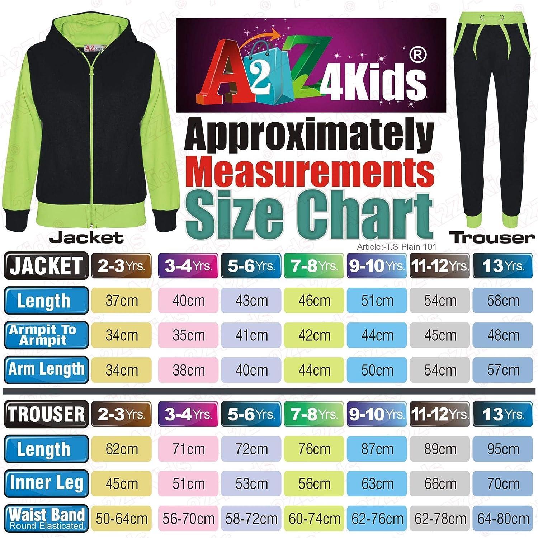 A2Z 4 Kids/® Kids Tracksuit Girls Boys Fleece Hooded Hoodie Bottom Jogging Suit Jogger 2-13Yr