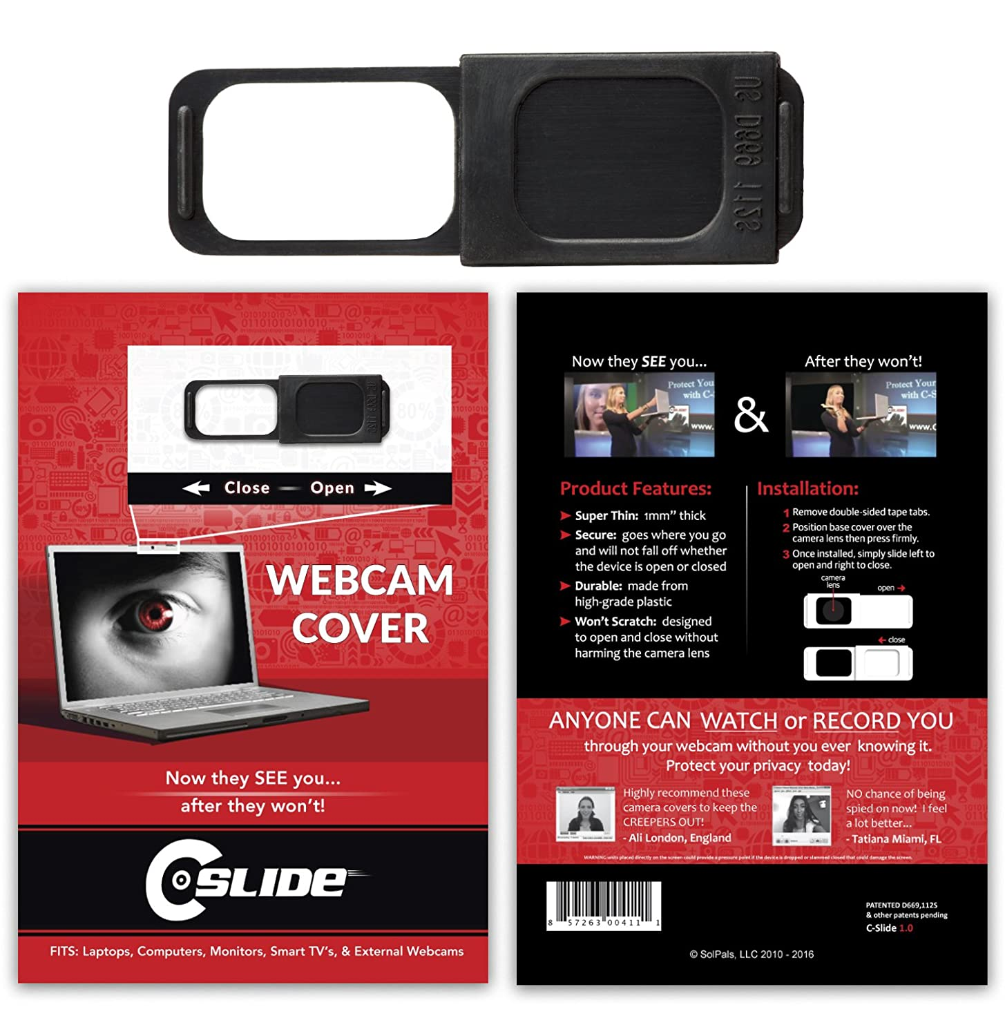 amazon com webcam cover for laptops pad devices computers