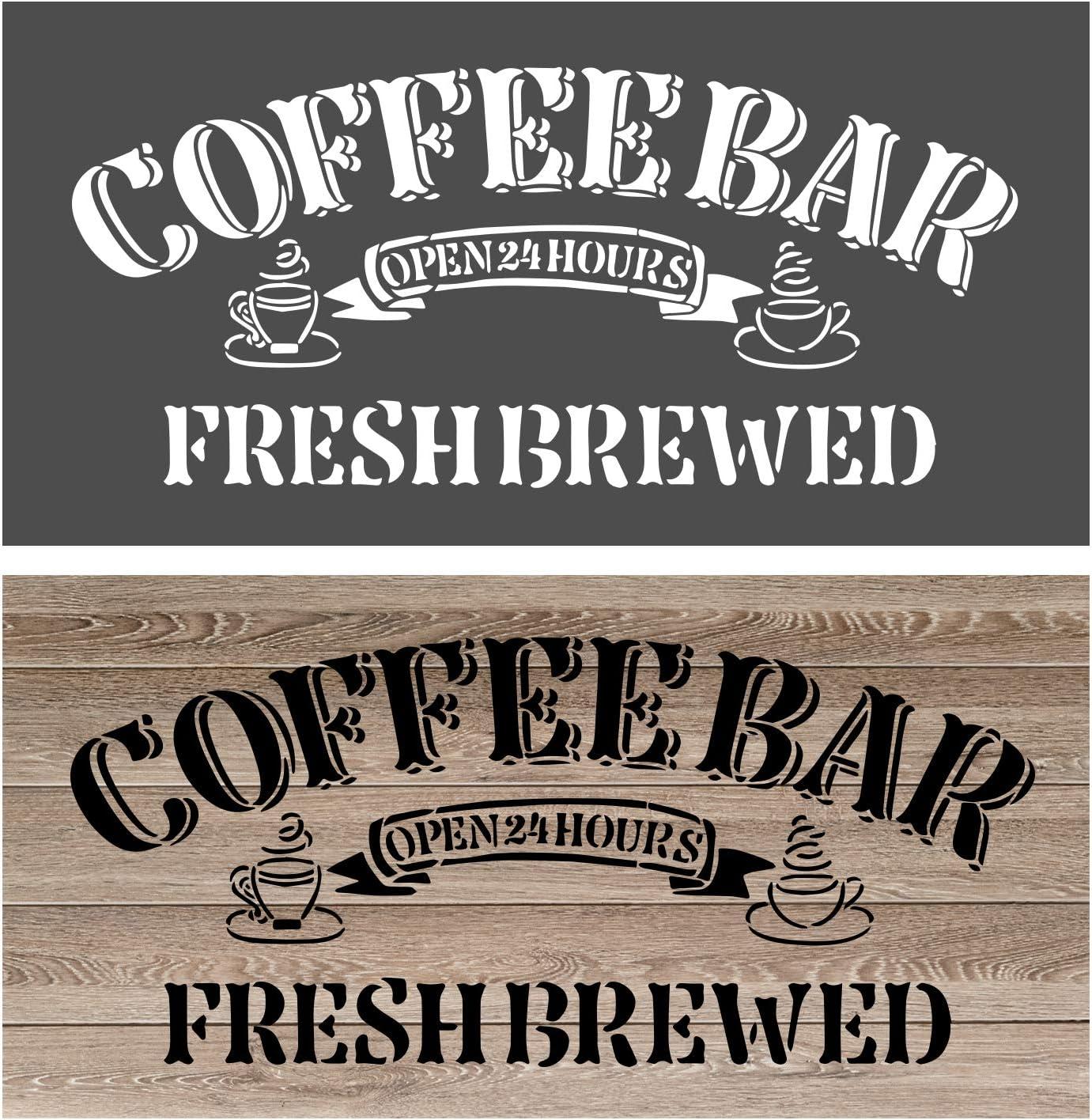 Reusable DIY Craft Stencil Multiple sizes Coffee Bar STENCIL