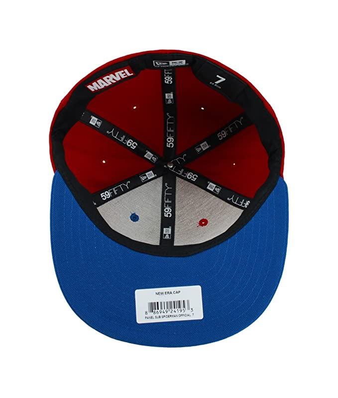 detailed look ad739 c41f9 ... discount amazon new era 59fifty marvel spiderman hat panel sub red  royal blue fitted men cap