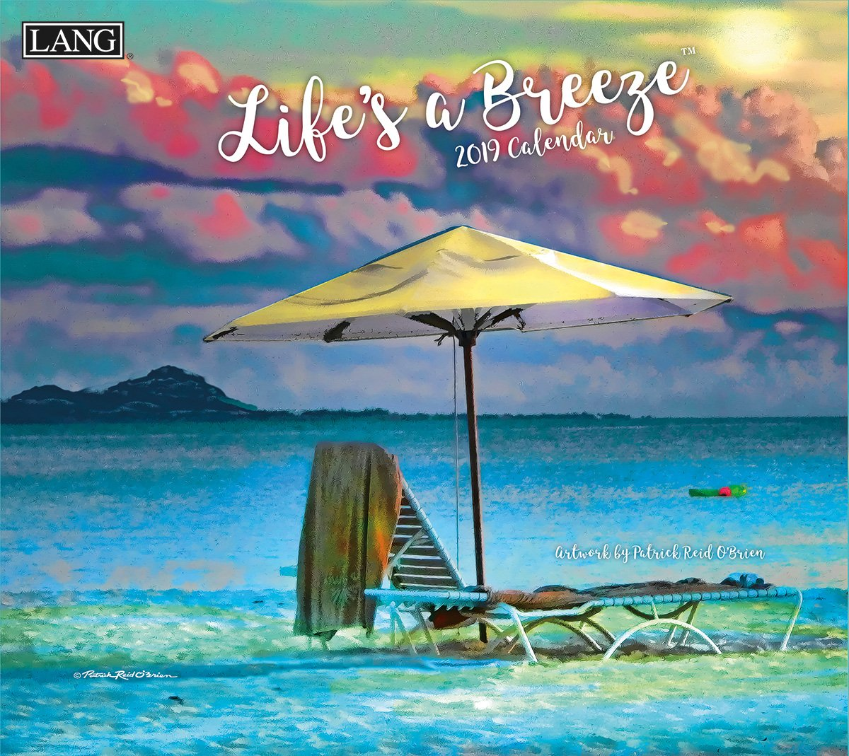 The Lang Companies 19991001998 Life's A Breeze 2019 Full Sized Wall Calendar Premier Gift Limited