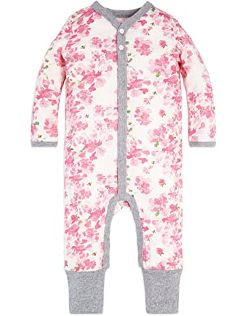 e6b9d2026 Burt's Bees Baby - Baby Girls' Romper Jumpsuit, 100% Organic Cotton One-