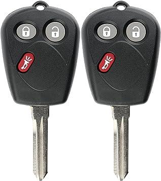 KeylessOption 4 Item Bundle 2 Key Fobs Keyless Entry Remotes 2 Uncut 4C Ignition keys