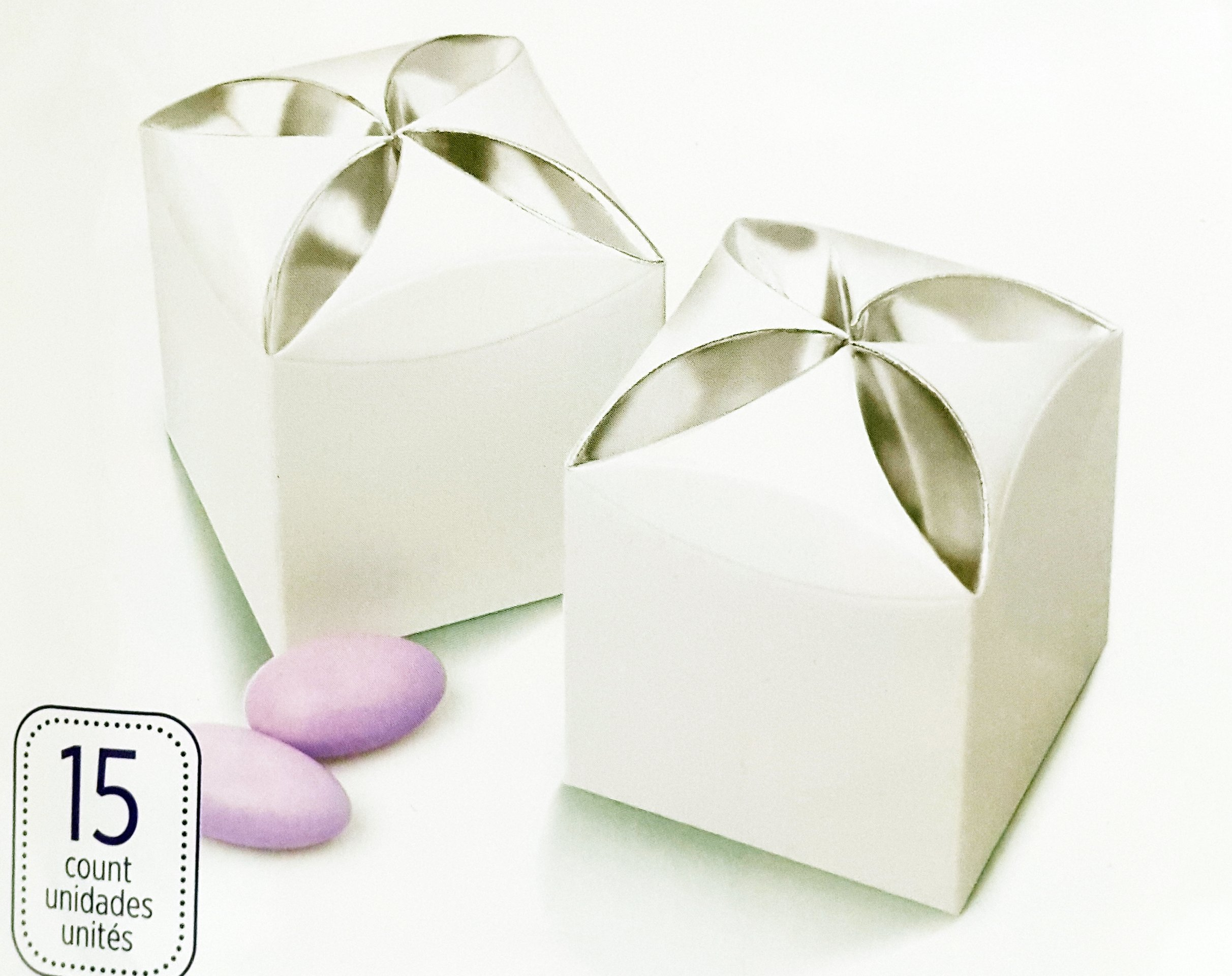 Favor Box in White Silver Petal by Wilton for Party Wedding ...
