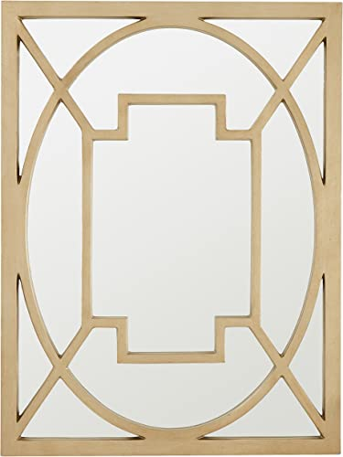 Amazon Brand Stone Beam Wall Decor Mirror, 30 x 40 , Champagne Gold