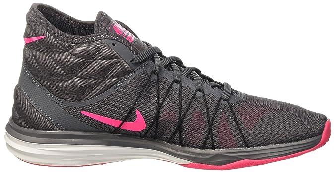 Nike Damen W Dual Fusion Tr Hit Mid Gymnastikschuhe, Grau (Dark Grey/Hyper Pink-Black-White), 38 EU
